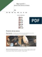 bass lesson 1