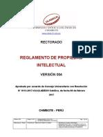 Reglamento de Propiedad Intelectual