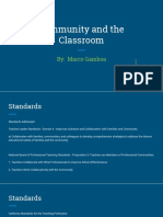 community and the classroom