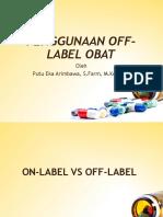 Penggunaan Off Label Obat