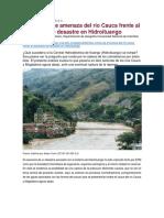 Diez Zonas de Amenaza Del Río Cauca Frente Al Escenario de Desastre en Hidroituango - Germán Vargas Cuervo