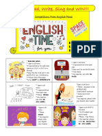 English Month Poster