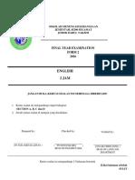 Final Exam FORM2 2016