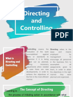 Directing and Controlling