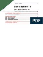 14- Otros Tipos y Modalidades de Educación