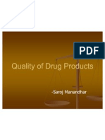 Quality of Drug Products