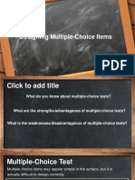 Designing Multiple Choice Items