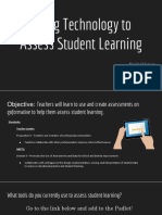 using technology to  assess student learning  final