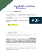 Nuevos Informes Exigidos Por El Colegio de Contadores