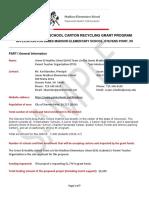 madisonelem-stevenspoint carton recycling grant application sample