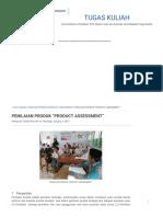 "Penilaian Produk ""Product Assessment"" _ Tugas Kuliah"