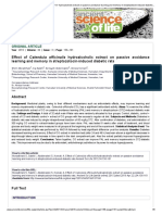 Extracto hidroalcoholico de C. Officinalis en la memoria y aprendizaje