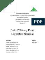 Poder Público y Poder Legislativo