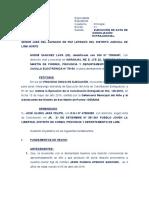 Ejecucion de Acta de Conciliación de NAOMI ELIZABETH SANCHEZ LAPA
