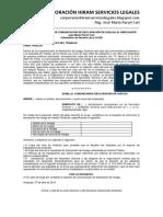 Modelo de Escrito de Comunicación de Declaración de Huelga Al Empleador - Autor José María Pacori Cari