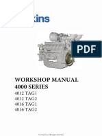 Perkins 4012- 4016 Workshop Manual