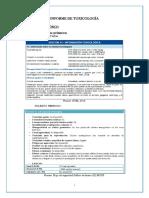 Informe de Toxicología Aguas