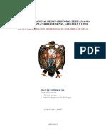 Plan Estudios Especialidad Indice 2012