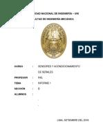 SENSORES Y ACONDICIONAMIENTO DE SEÑALES