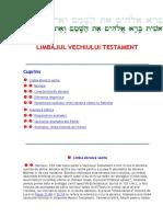 Limbajul Vechiului Testament