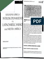 Orlando Lima Interdisciplina y latinoamericanismo