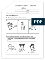 PRUEBA Diagnóstico HISTORIA Tercero 2019