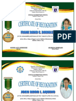 Certificate With Honors