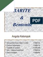 Barite & Bentonite (Tugas Kelompok Mtp Kelas d)