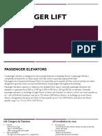 Mechanism of Passenger Lifts