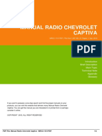 Manual Radio Chevrolet Captiva