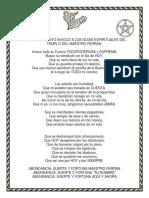 ORACION DEL MAESTRO FERRAN