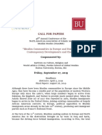 Call for Papers -Boston University [1]