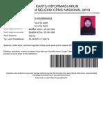 Kartu Informasi Akun Ayu Zulvita Sari