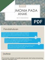 Pneumonia Pada Anak Dr. Nanda FD