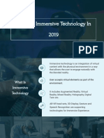 State of Immersive Technologies in 2019