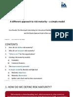 An ERM Maturity Model