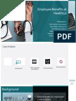 Employee Benefits at HealthCo