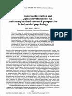 Frese, M. (1982). Occupational socialization and psychological development.pdf