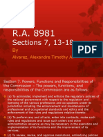 R.a. 8981 Section 7, 13-19