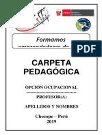 Carátula de Carpeta Pedagógica