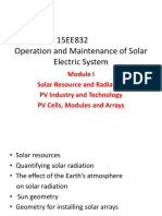 Operation and Maintenance of Solar PV Systems