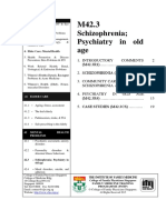 M42 3 Schizophrenia Psychiatric in Old Age