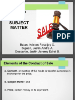 Chapter 3 Report - Subject Matter