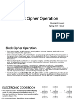 5- Block Cipher Operation