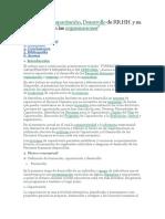 Formación, Capacitación, Desarrollo de RR.HH.