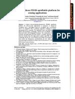 A Hybrid Silicon-PDMS Optofluidic Platform for Sensing Applications
