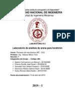 Segundo Informe de Procesos de Manufactura (Finalizado)