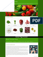 Online Vegetable Store Php Screens