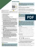 Cisco PDS3121 Set Top Safety Sheet English
