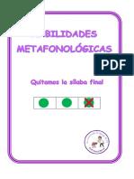 Habilidades Metafonologicas Eliminar Silaba Final Minusculas Cuadricula
